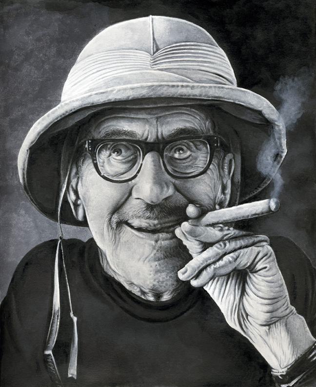 Drew Friedman Groucho Raised Eyebrows