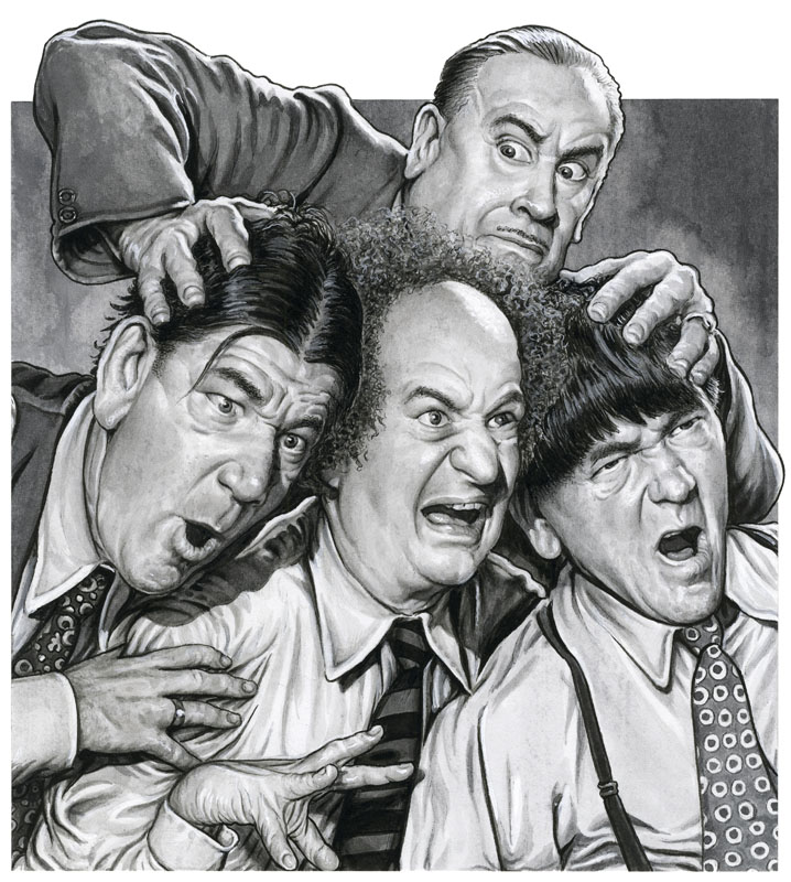 Drew Friedman :: The THREE STOOGES with Vernon Dent
